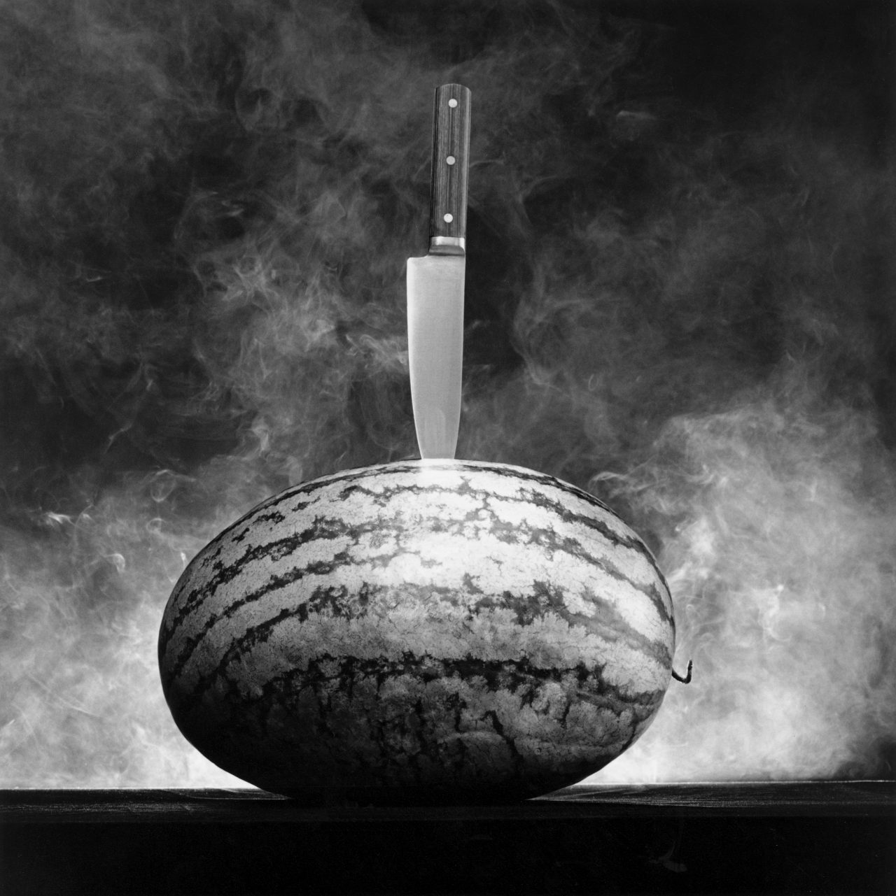 Watermelon with Knife,1985 Gelatin Silver Print