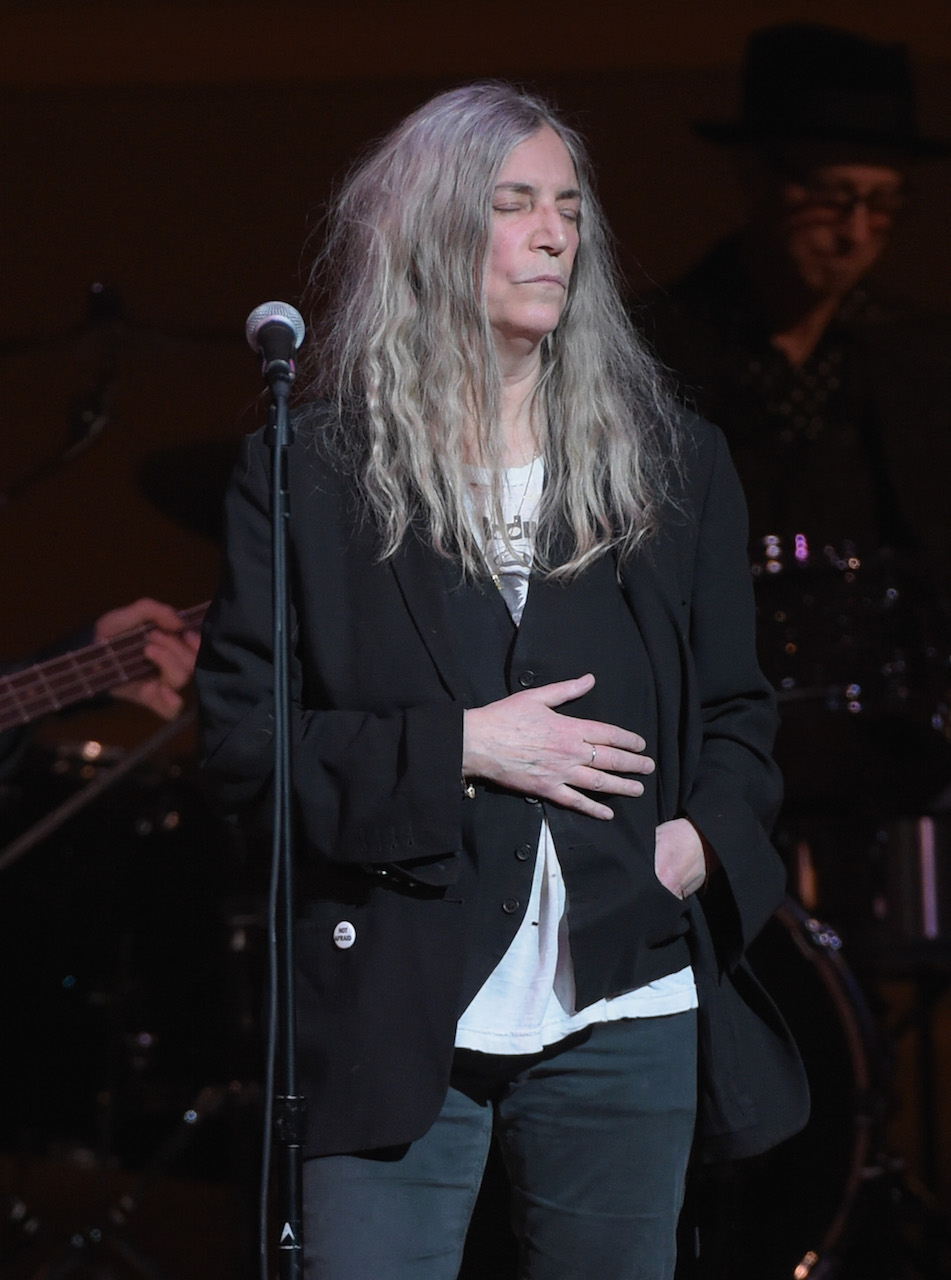 NEW YORK, NY - MARCH 16: Patti Smith performs onstage during the Tibet House US 30th Anniversary Benefit Concert & Gala to celebrate Philip Glass's 80th Birthday at Carnegie Hall on March 16, 2017 in New York City. (Photo by Jason Kempin/Getty Images for Tibet House US)