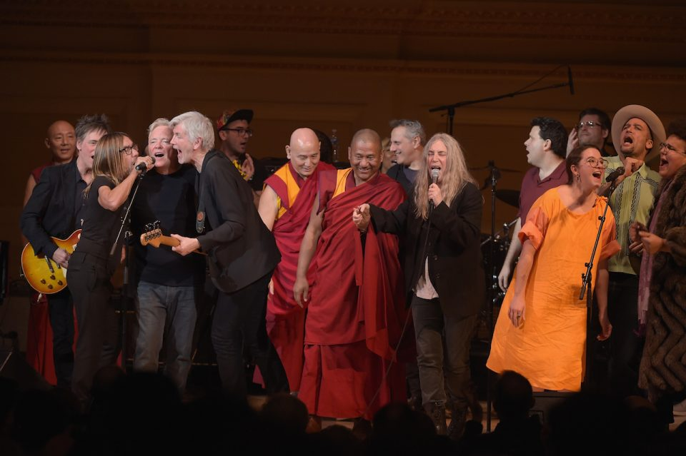 NEW YORK, NY - MARCH 16: Patti Smith performs onstage during the finale at the Tibet House US 30th Anniversary Benefit Concert & Gala to celebrate Philip Glass's 80th Birthday at Carnegie Hall on March 16, 2017 in New York City. (Photo by Jason Kempin/Getty Images for Tibet House US)