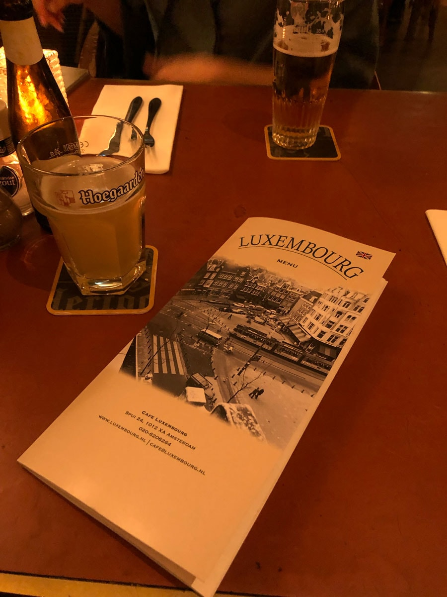 cafe Luxembourgのメニュー